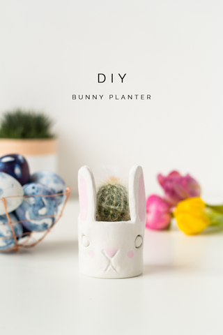 Easter Bunny Cactus planter