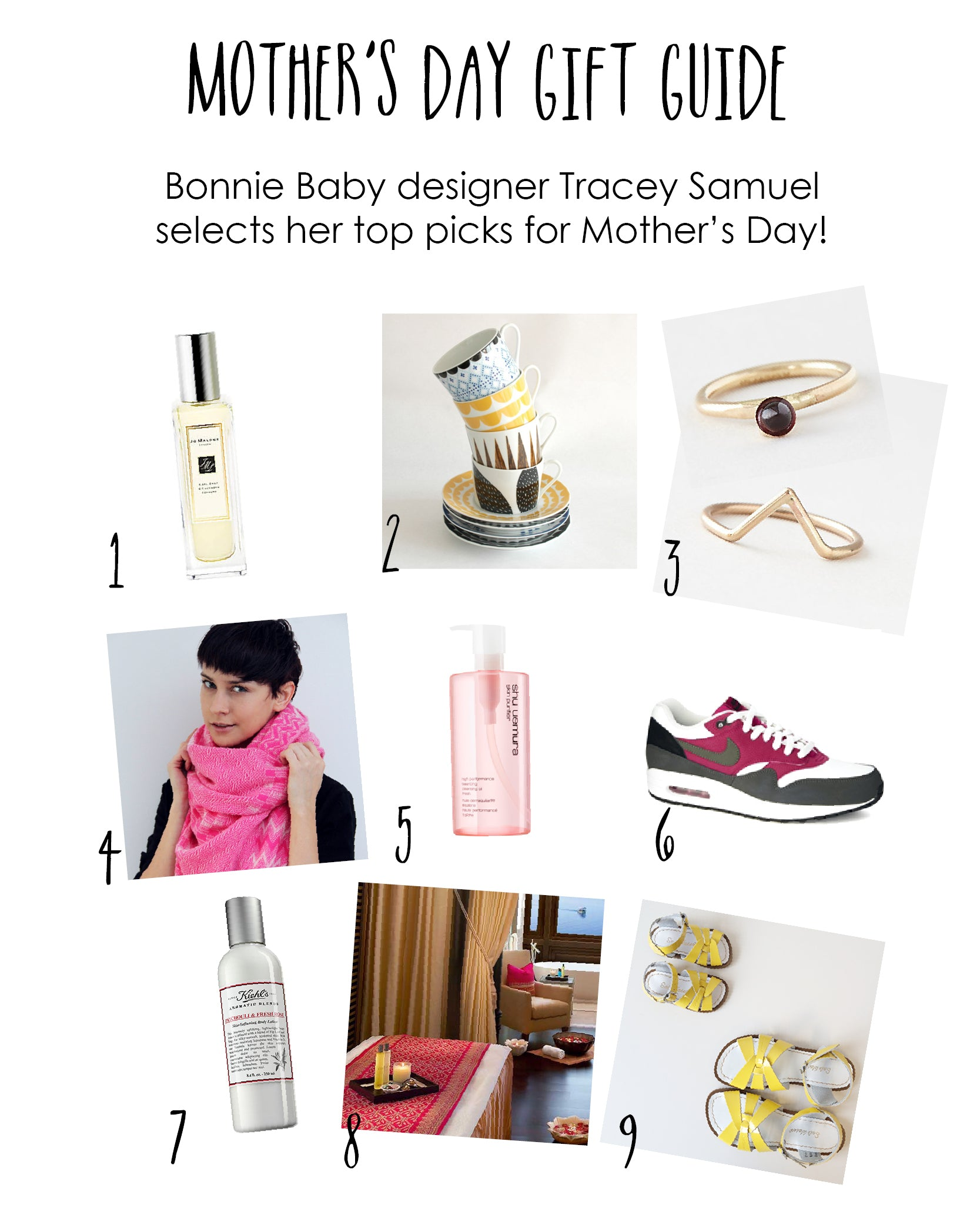 MOTHERS DAY GIFT GUIDE FROM DESIGNER TRACEY SAMUEL