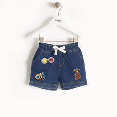 HAWAII DENIM KIDS SHORTS WITH BADGES