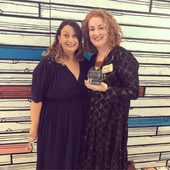 Tracey Samuel and Bonita Turner at Junior Design awards 2019