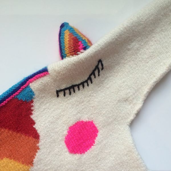 SARAH ELWICK'S RAINBOW KNITTED KIDS SWEATER