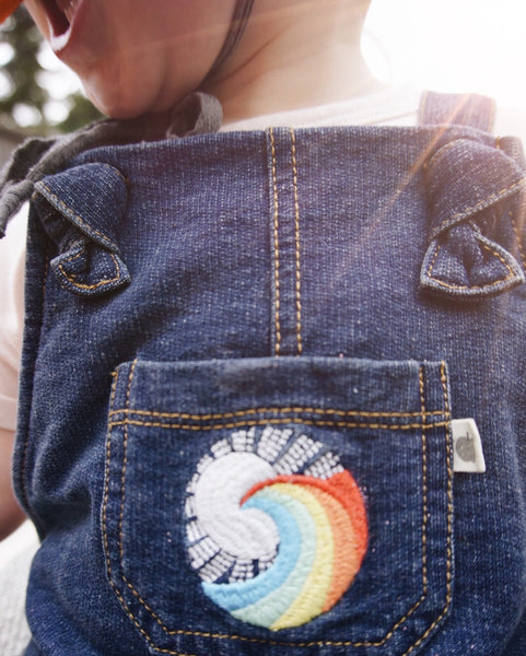 The bonnie mob rainbow embroidered denim kids clothes