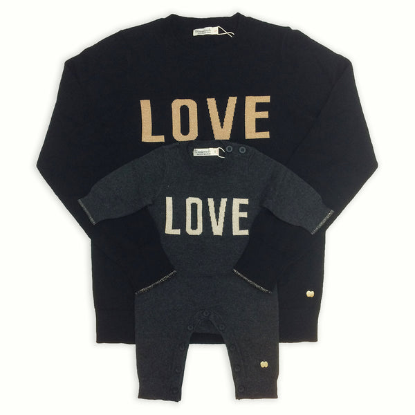 LOVE matching charity knitwear for mothers and babies by the bonnie mob x selfish mother
