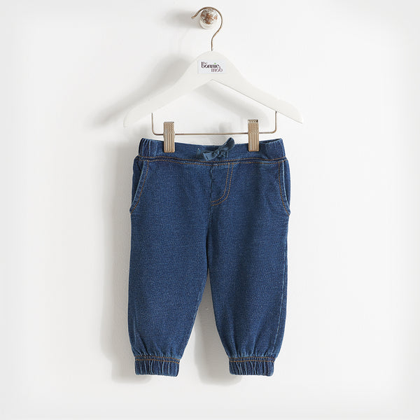 unisex kids denim trousers, slouchy and comfy perfect for back to school uniform