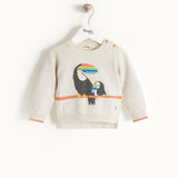 Organic toucan baby sweater