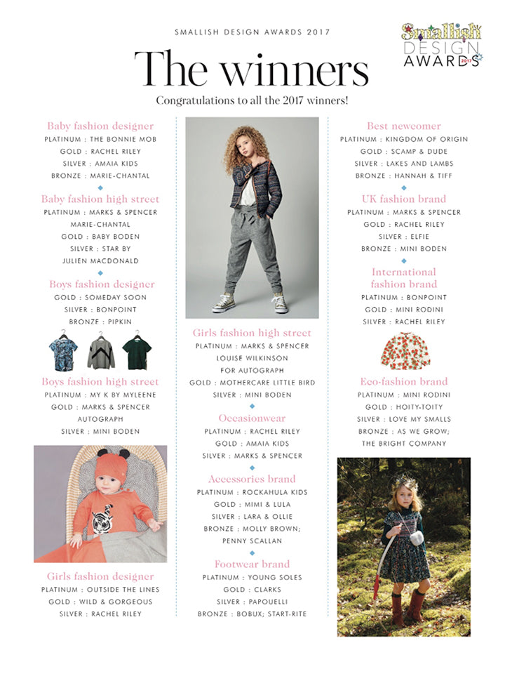 Smallish 2017 Parenting Awards - winners of best baby fashion designer
