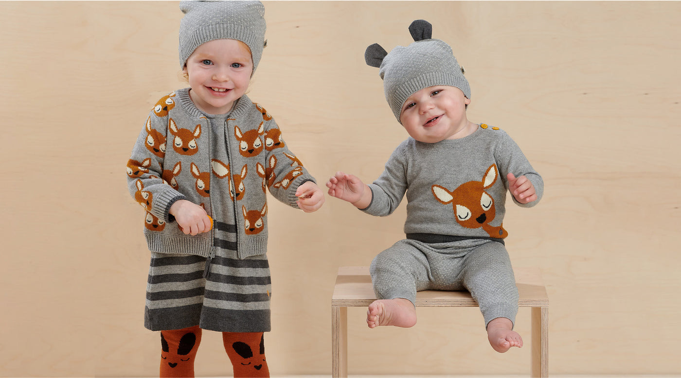 Sustainable Cashmere winter knitwear for babies and kids