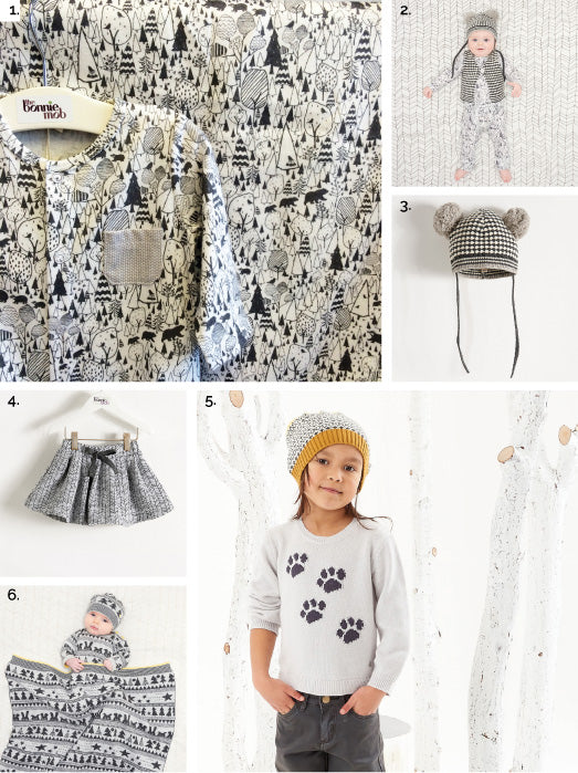 THE BONNIEMOB MONOCHROME CLOTHES FOR KIDS AND BABIES