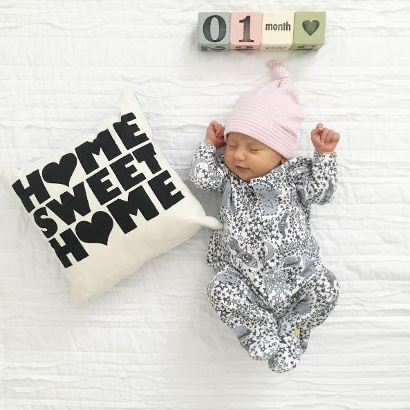 winner of our giveaway competition for september in our organic cotton baby sleepsuit