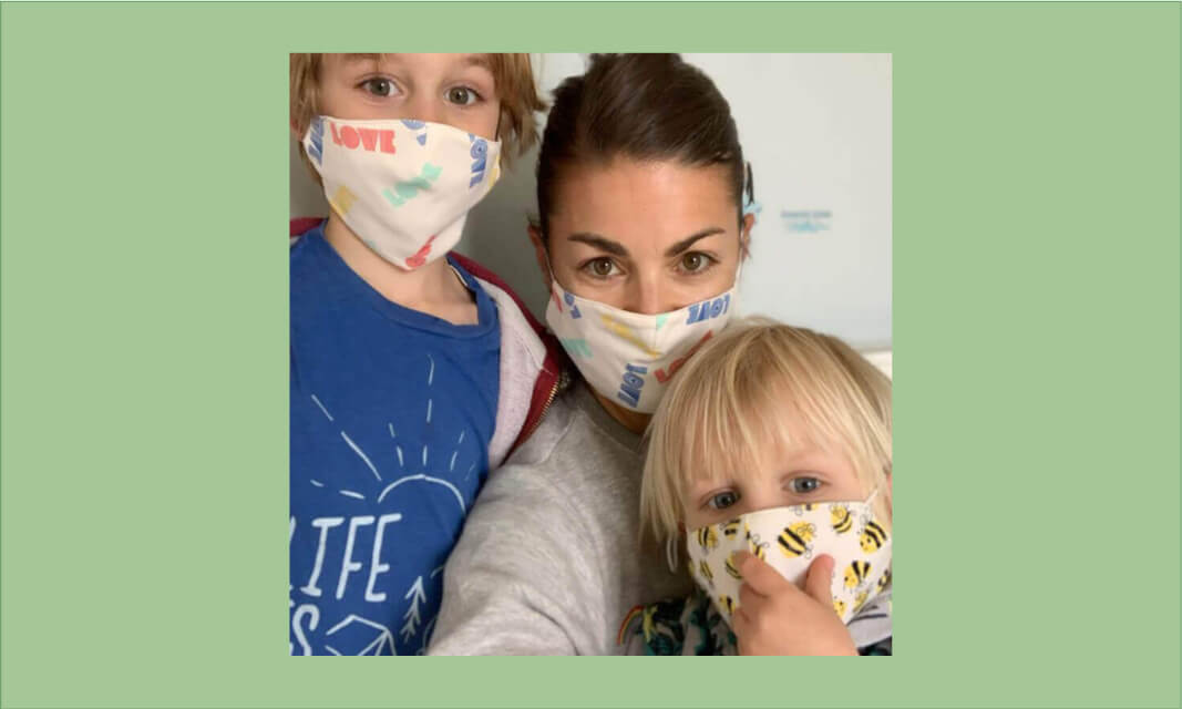organic cotton colourful face masks for kids and adults