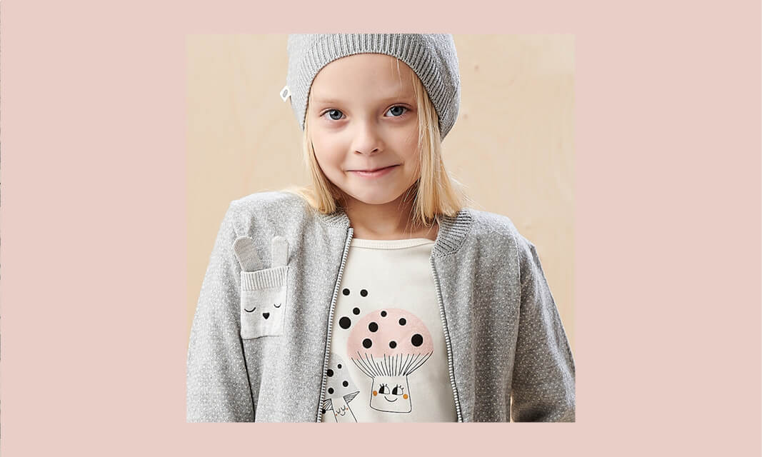 sustainable winter knitwear for girls with a touch of cashmere
