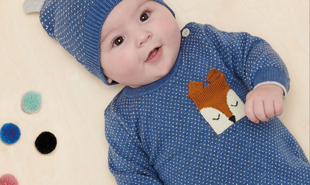 cotton cashmere fox knitwear for baby boys