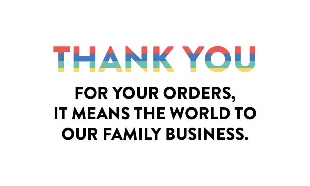 thank you for your orders