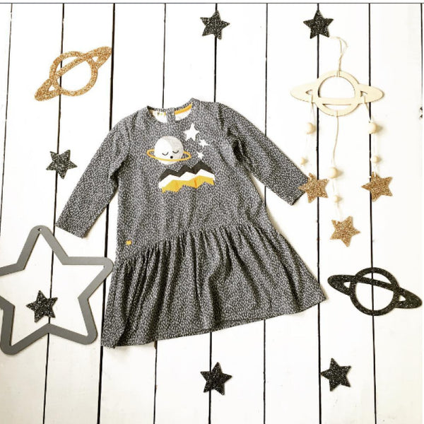 organic cotton kids and baby planet dress and decorations