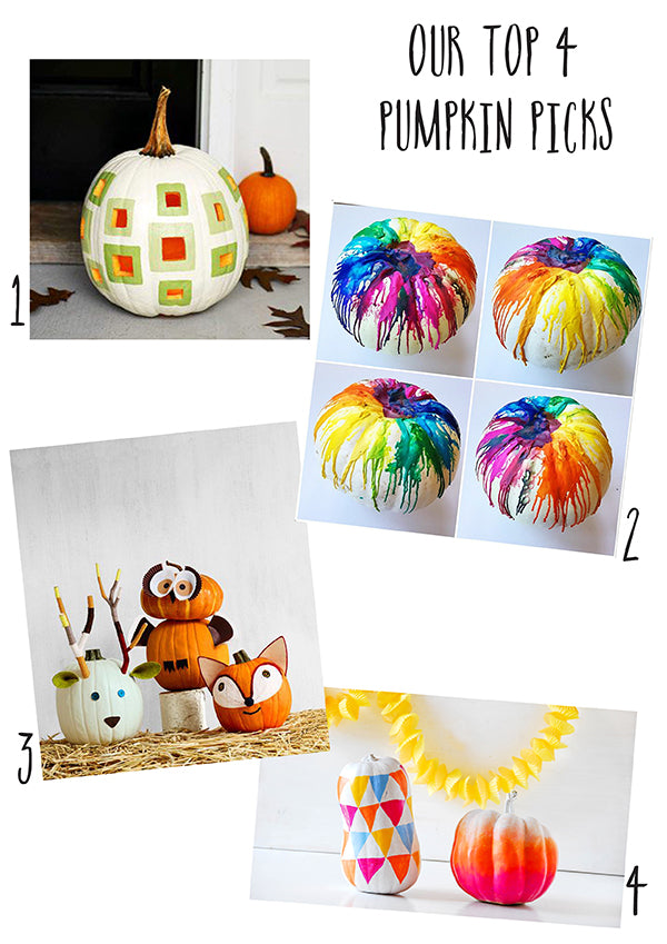 ALTERNATIVE PUMPKIN PAINTING IDEAS FOR HALLOWEEN