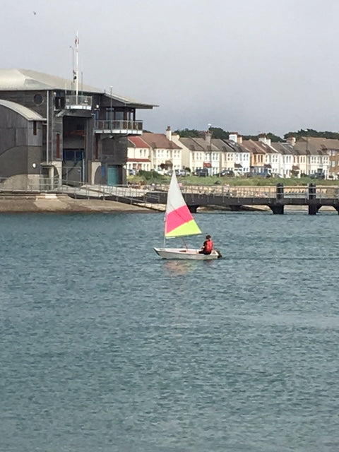 Rhys sailing in the english channel