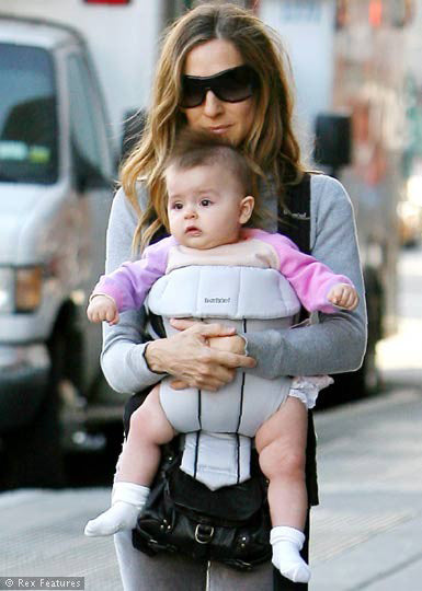 Sarah Jessica Parker and Baby in Bonnie Baby sweater