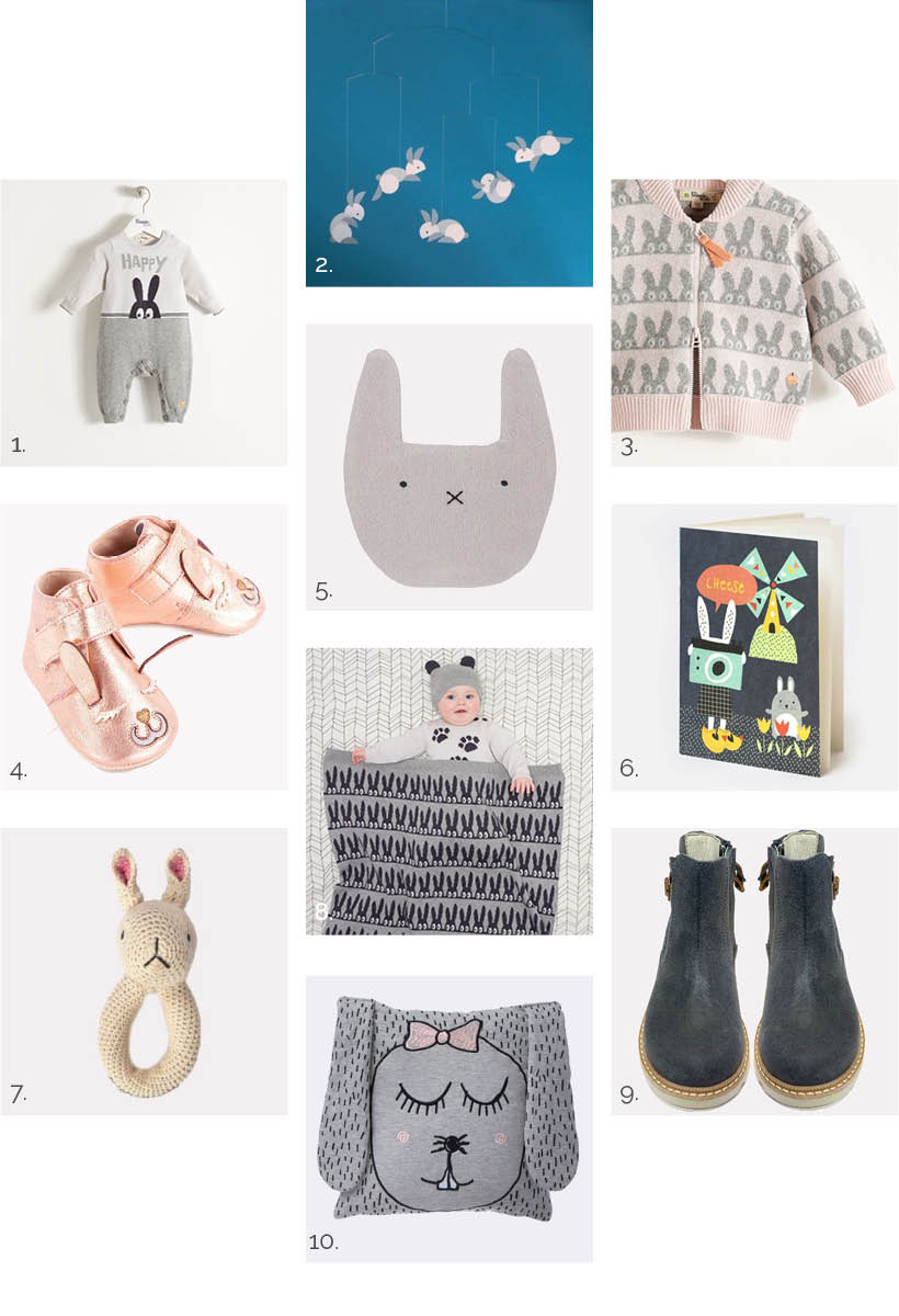 bunny themed baby items