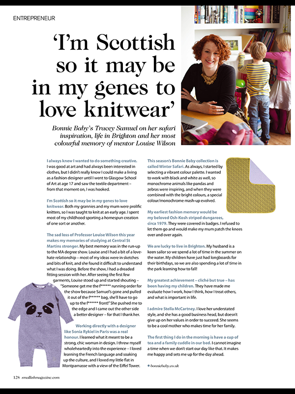 interview with baby wear designer tracey samuel, smallish magazine