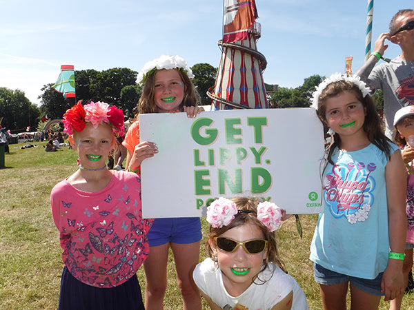 kids facepaint at camp bestival 2015