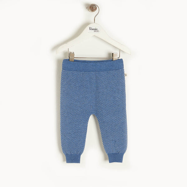 ASPEN - Baby Knit Jogging Trouser BLUE - The bonniemob