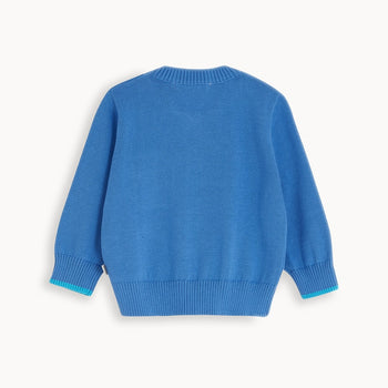 BELMONT - Baby Cardigan BLUE - The bonniemob