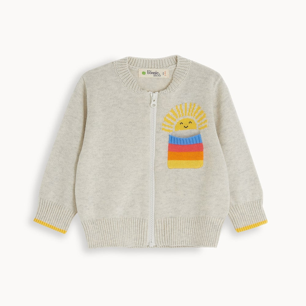 BELMONT - Baby Cardigan PUTTY - The bonniemob
