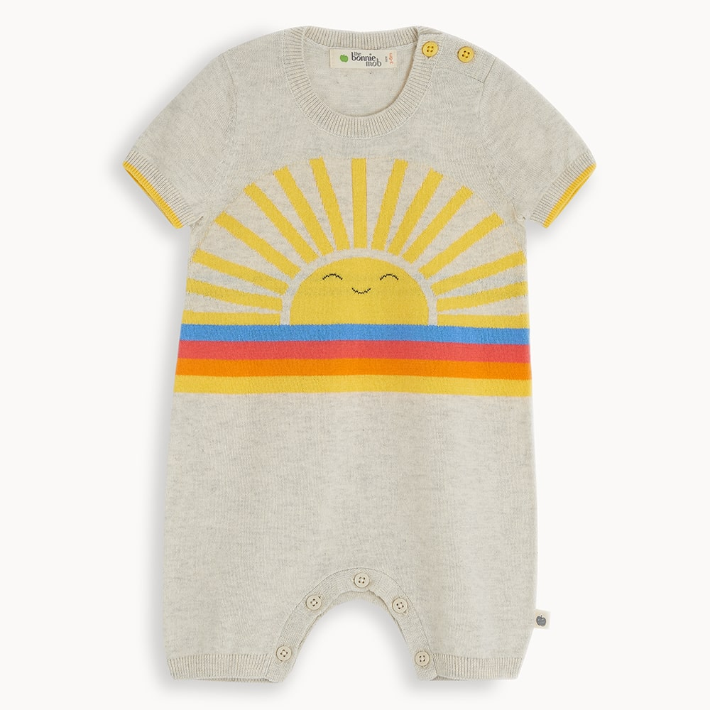 BERKELEY - Baby Shorty Playsuit PUTTY - The bonniemob