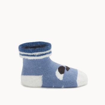 BLINK - Baby 'Eyes' Baby Bootie BLUE - The bonniemob