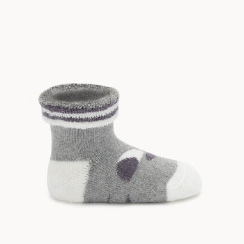 BLINK - Baby 'Eyes' Baby Bootie GREY - The bonniemob