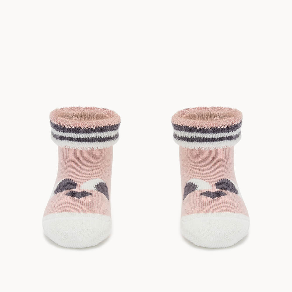BLINK - Baby 'Eyes' Baby Bootie PINK - The bonniemob