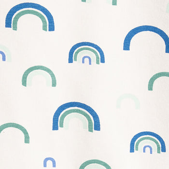 FACEMASK - organic cotton- BLUE RAINBOW print - The bonniemob