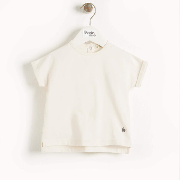 CAIRNS - Kids Plain T-Shirt CREAM