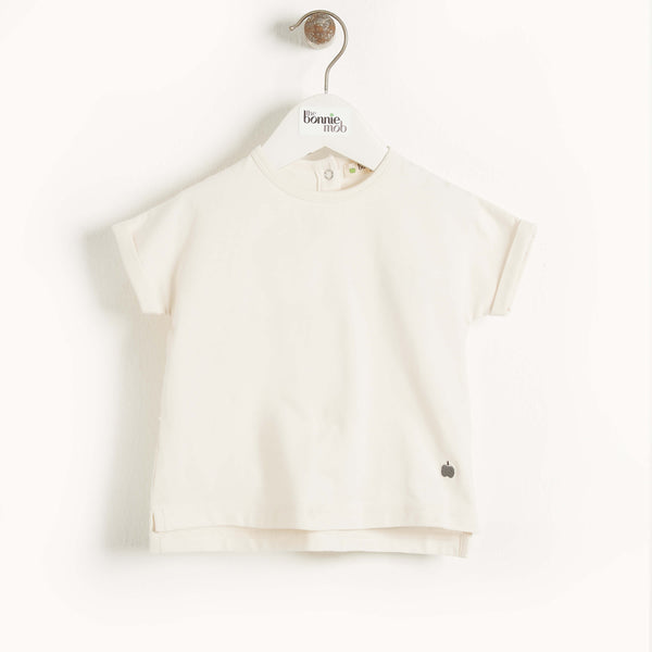CAIRNS - Baby Plain T-Shirt CREAM