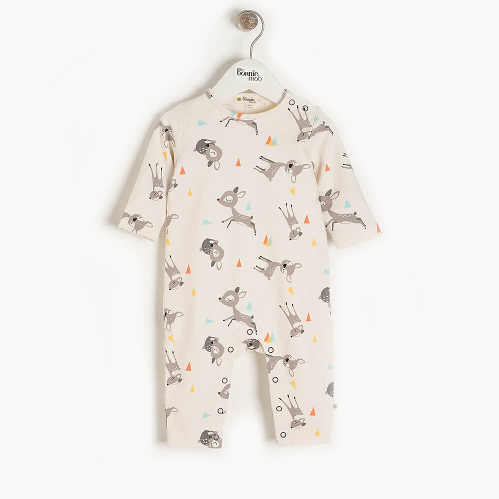 CEDAR - Baby Playsuit DEER - The bonniemob