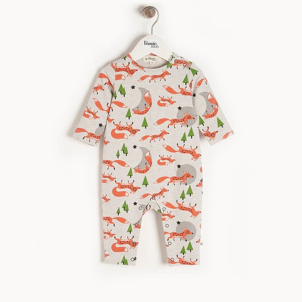 CEDAR - Organic Baby Playsuit FOX - The bonniemob