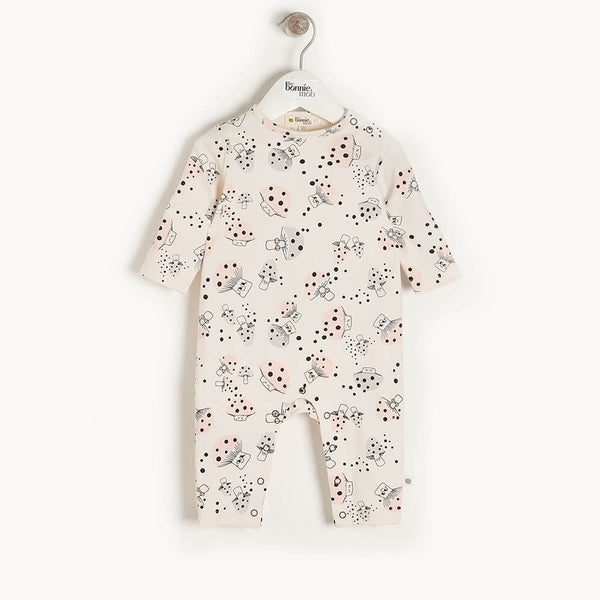 CEDAR - Baby Playsuit MUSHROOM - The bonniemob