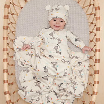 COLE - Baby Blanket With Hood DEER - The bonniemob
