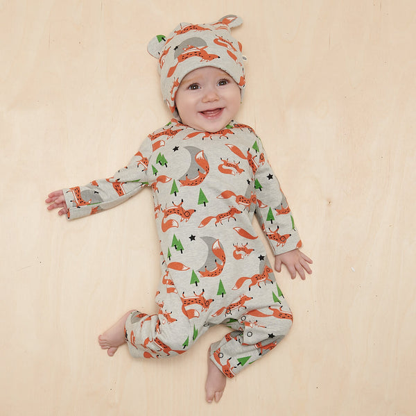 CATKIN - Baby Baby Beanie Hat With Ears FOX - The bonniemob