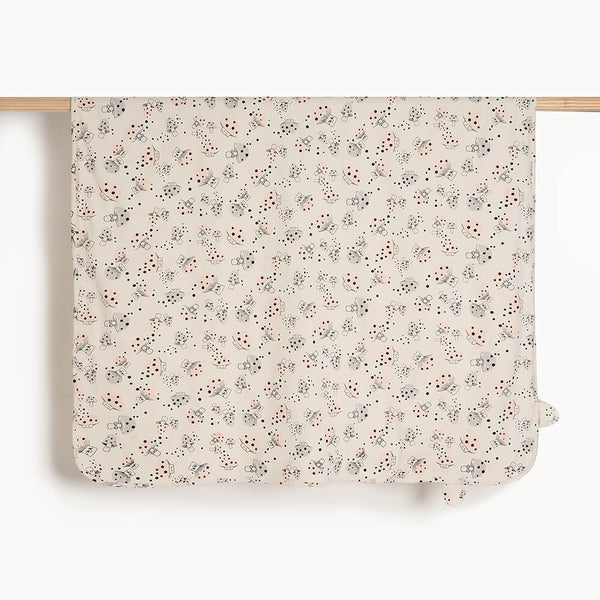 COLE - Baby Blanket With Hood MUSHROOM - The bonniemob