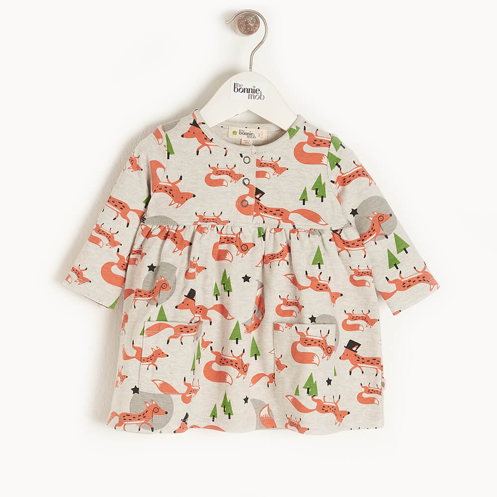 CORIN - Kids Dress With Pockets  FOX - The bonniemob