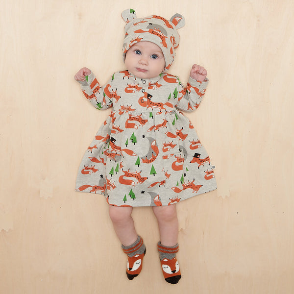 CORIN - Baby Dress With Pockets FOX - The bonniemob