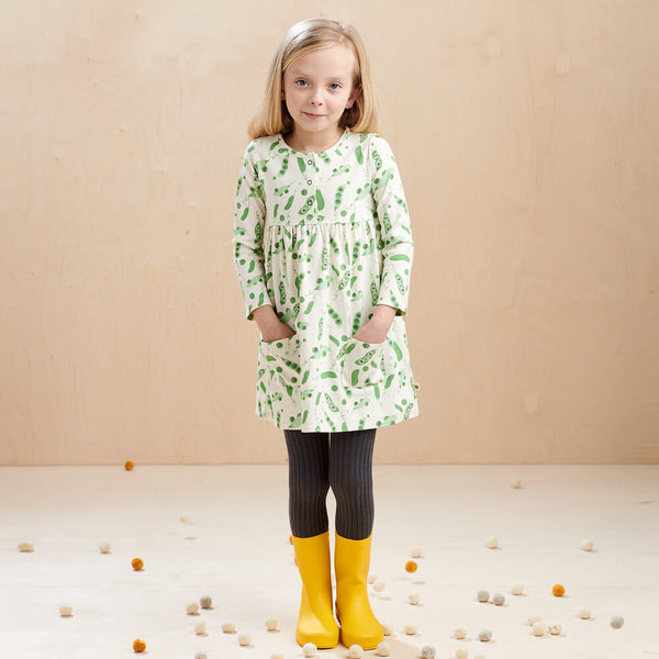 CORIN - Kids Dress With Pockets  PEA - The bonniemob