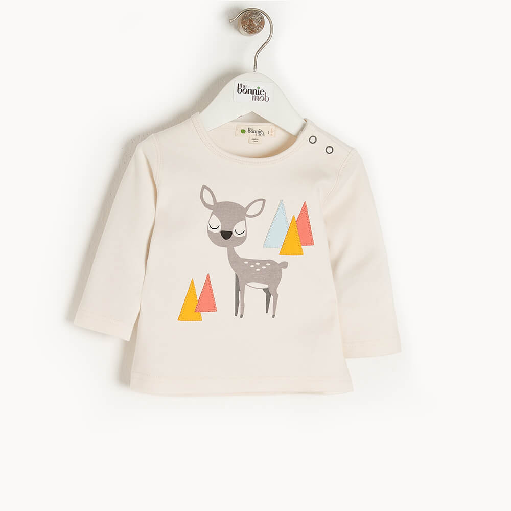COSMO - Kids T-Shirt  PLACED DEER - The bonniemob