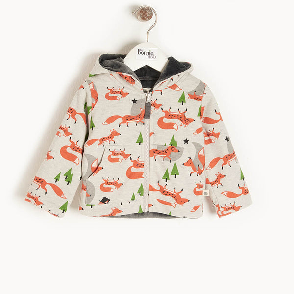 DEER - Baby Hoodie FOX - The bonniemob