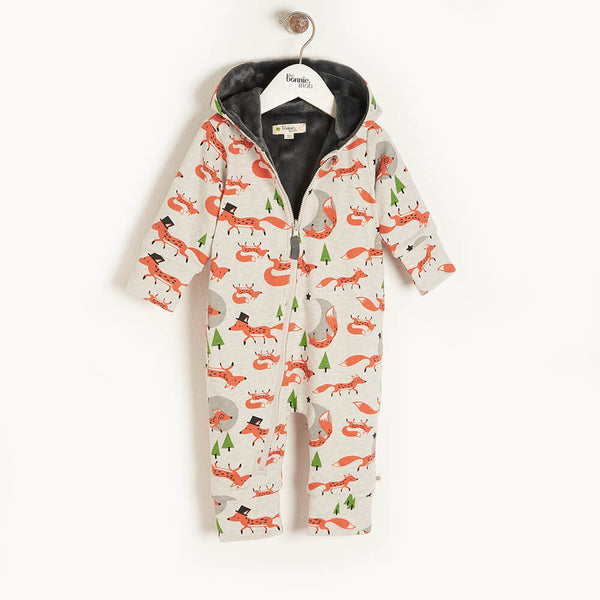 DOE - Baby Hooded Onesie FOX - The bonniemob