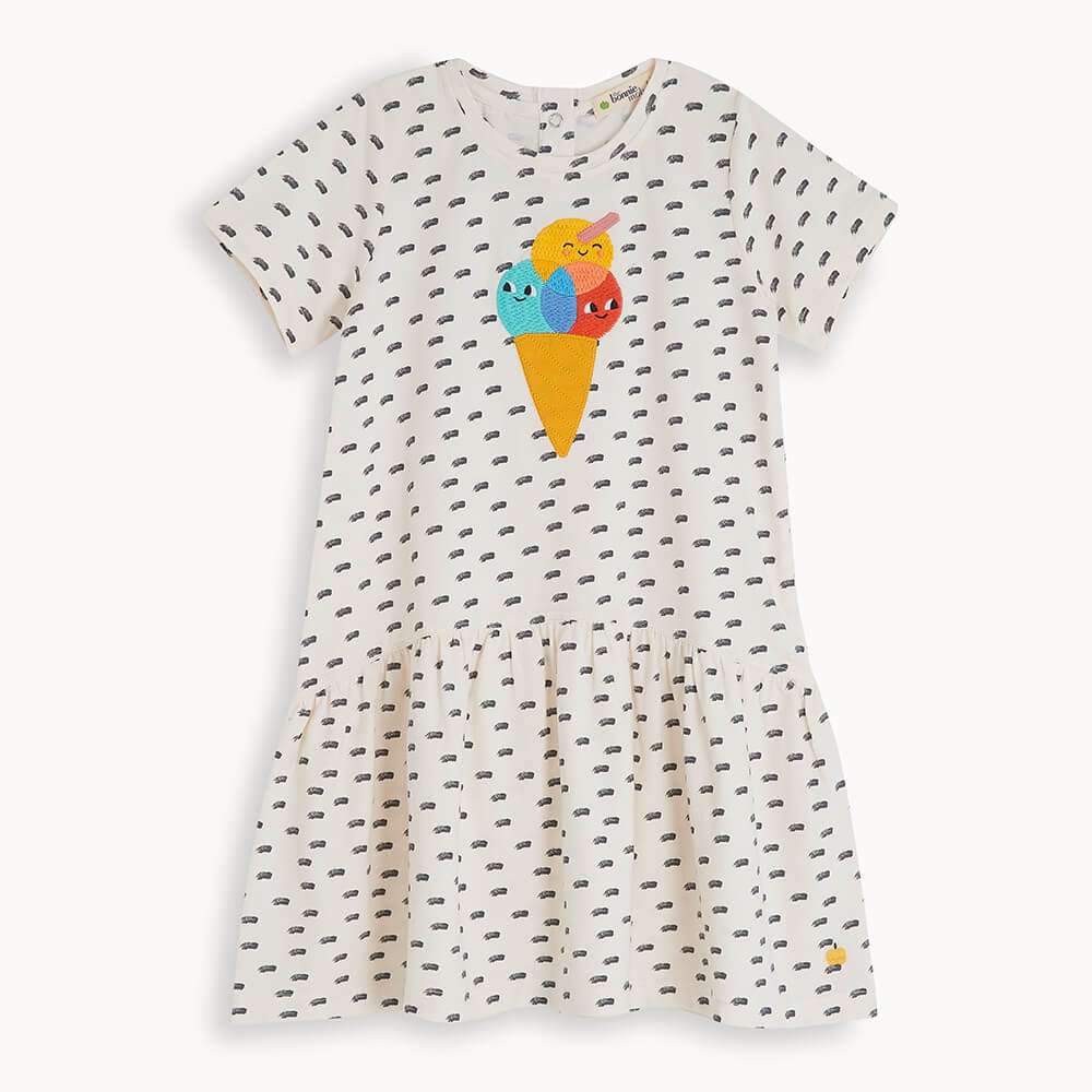 DRIFT - Kids Applique Dress ICE CREAM - The bonniemob