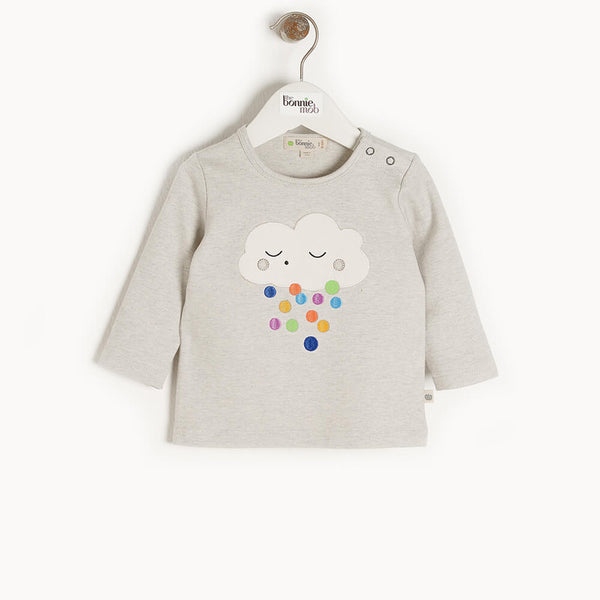 ELDER - Kids Applique T-Shirt  RAINCLOUD - The bonniemob
