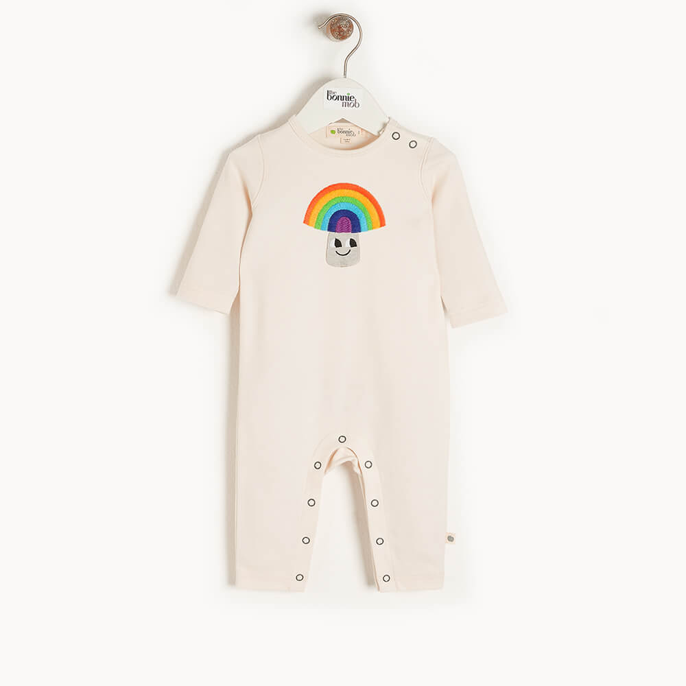 ELWOOD - Baby Applique Playsuit RAINBOW MUSHROOM - The bonniemob