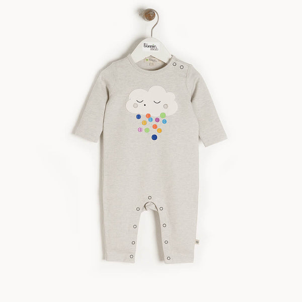 ELWOOD - Baby Applique Playsuit RAINCLOUD - The bonniemob